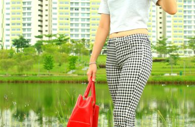 Fashion On The Move: Checkered Pants (With a POP of RED), Singapore
