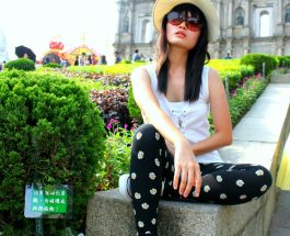 Fashion On The Move: Daisy Printed Leggings, Macau